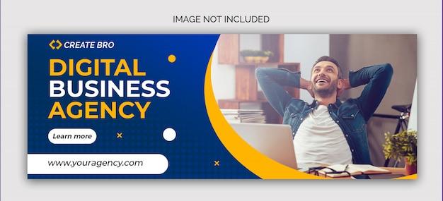 Zakelijke marketing sociale media postbanner