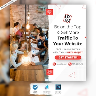 Zakelijke marketing webbanneradvertentie