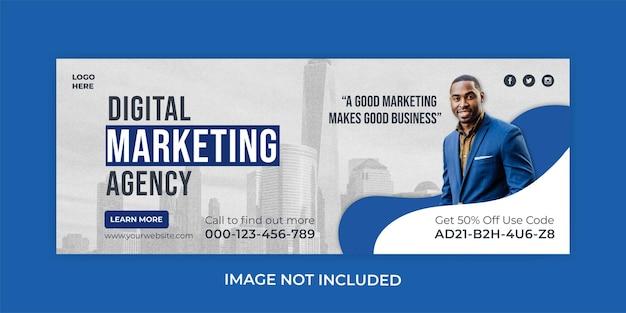 Zakelijke marketingbureau facebook voorbladsjabloon