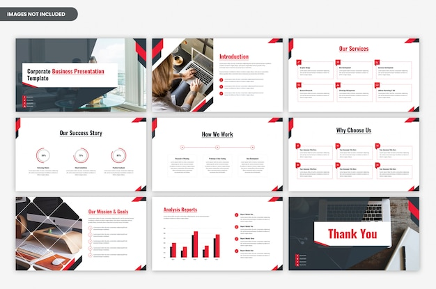 Zakelijke moderne zakelijke presentatiesjabloon