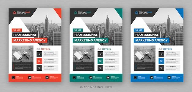 Zakelijke multifunctionele flyer ontwerp en brochure voorbladsjabloon