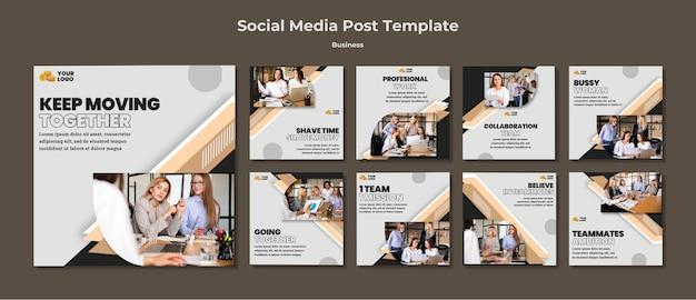 Zakelijke posts op sociale media Premium Psd