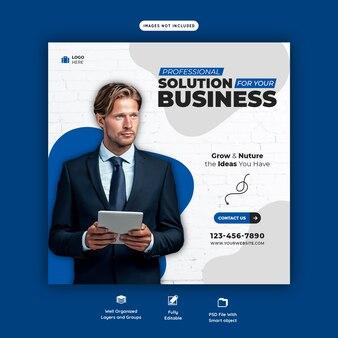 Zakelijke promotie en corporate social media-sjabloon voor spandoek