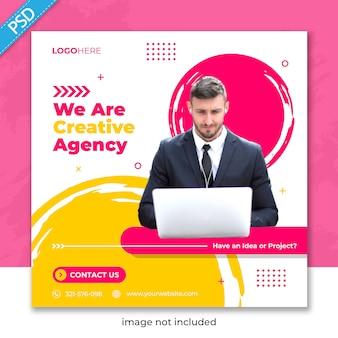 Zakelijke promotie en corporate voor sociale media instagram postbannersjabloon
