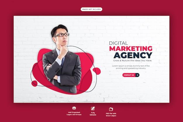 Zakelijke promotie en corporate webbanner sjabloon