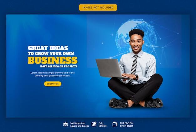 Zakelijke promotie en corporate websjabloon voor spandoek