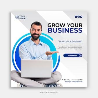Zakelijke promotie en zakelijke social media-bannersjabloon of vierkante flyer