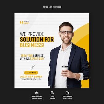 Zakelijke promotie en zakelijke sociale media post-sjabloon voor spandoek