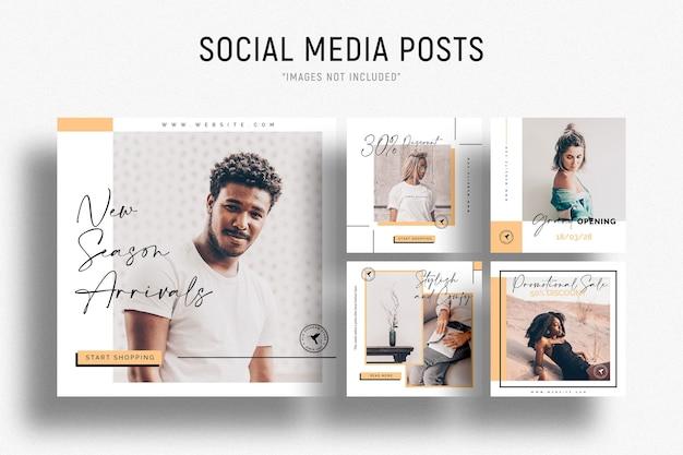 Zakelijke sociale media postsjabloon