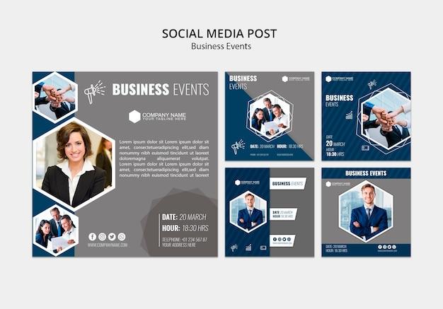Zakelijke sociale media sjabloon