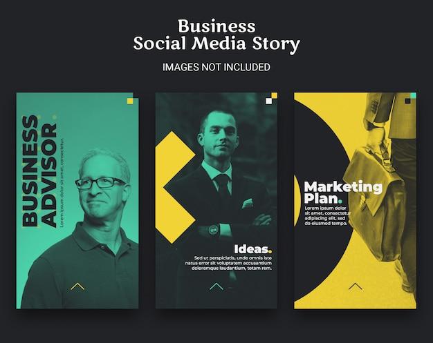 Zakelijke sociale media verhaalsjabloon