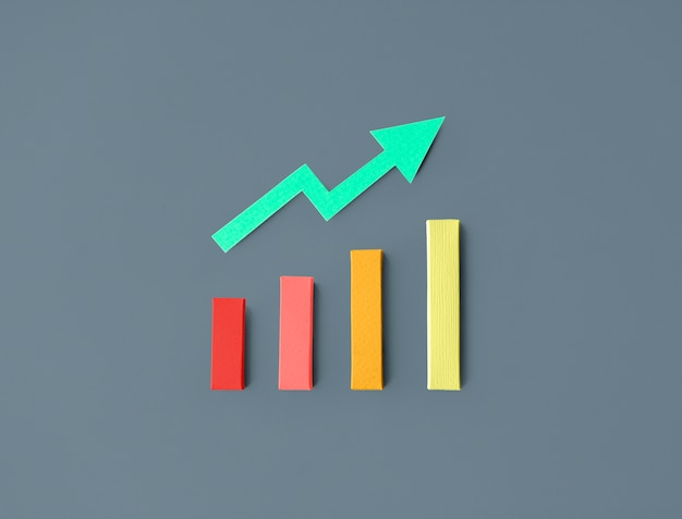 Zakelijke statistiek staafdiagram