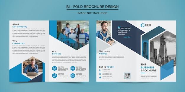 Zakelijke tweevoudige brochure ontwerpsjabloon