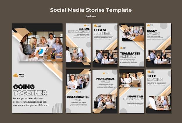 Zakelijke verhalen op sociale media
