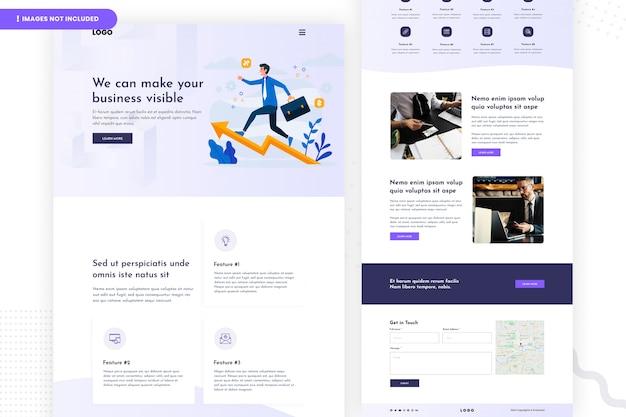 Zakelijke website pagina-ontwerp