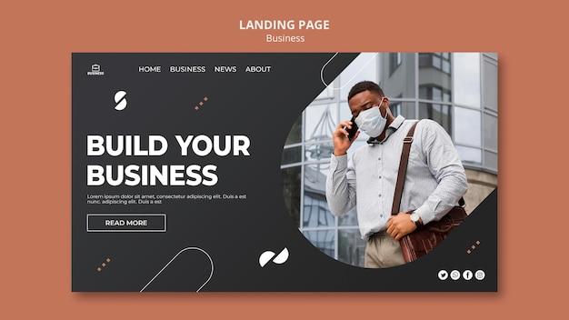 Zakelijke websjabloon met foto