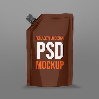 Zakje 3d-rendering mockup-ontwerp