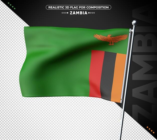 Zambia 3d geweven vlag voor samenstelling