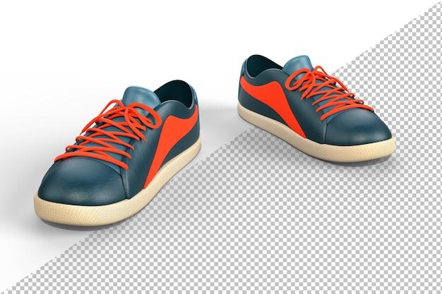 Zapatos deportivos casuales en blanco
