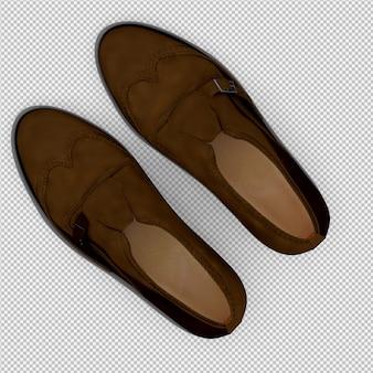Los zapatos isométricos 3d aislados render
