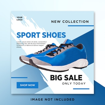 Zapatos venta media social post plantilla