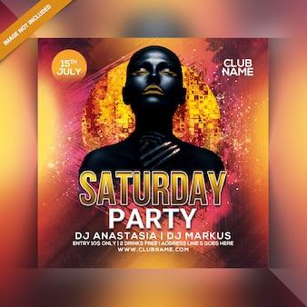 Zaterdagavond party flyer