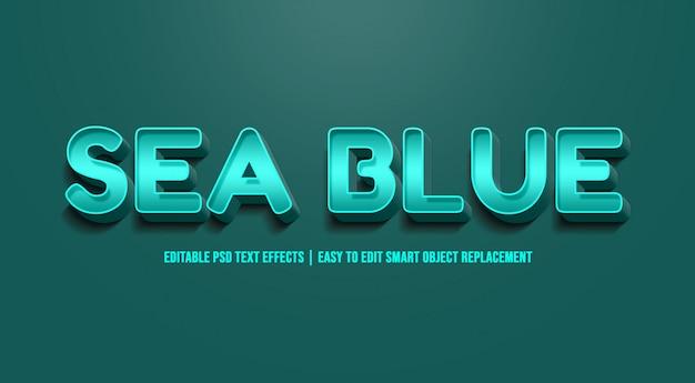 Zeeblauw - teksteffect premium psd