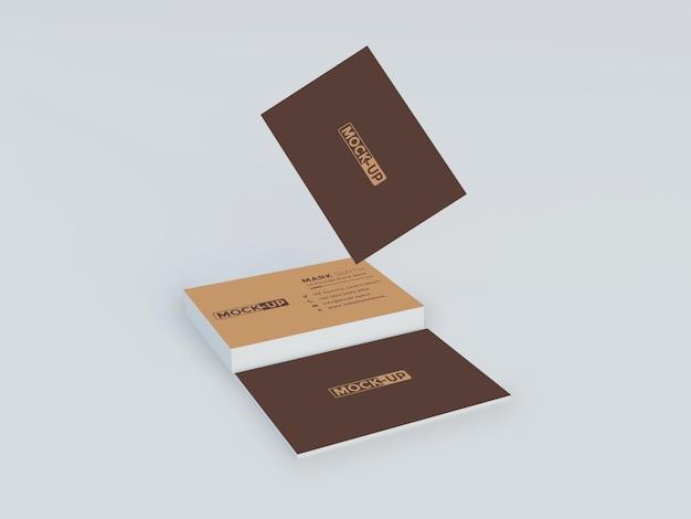 Zeer elegant mockup-ontwerp voor visitekaartjes