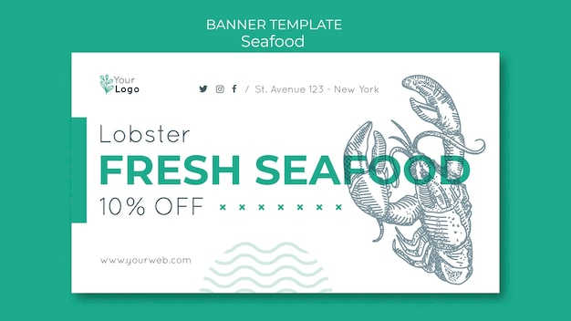 Zeevruchten concept sjabloon voor spandoek