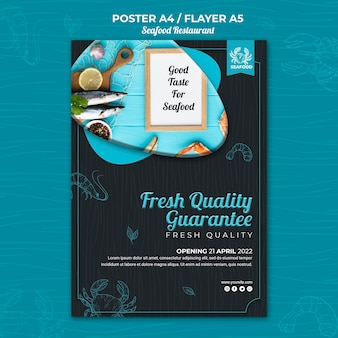 Zeevruchten restaurant poster thema