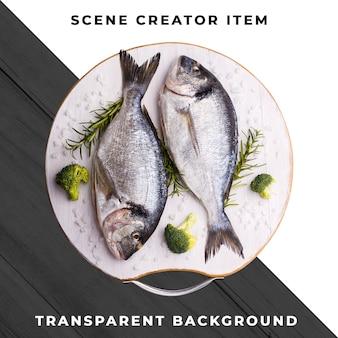 Zeevruchtenmaaltijd transparante psd