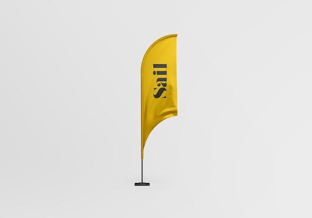 Zeil vlag mockup ontwerp geïsoleerd