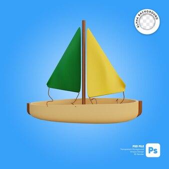 Zeilboot 3d-object