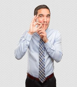 Zekere zakenman die een geheim houdt