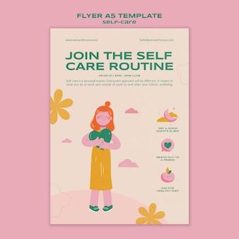 Zelfzorg routine flyer-sjabloon