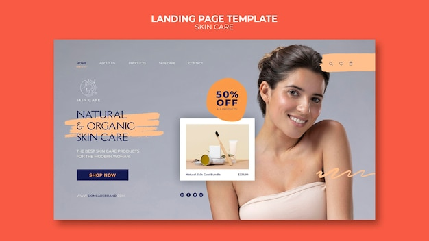 Zelfzorg websjabloon met foto
