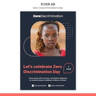 Zero discriminatie dag flyer-sjabloon
