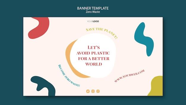 Zero waste banner ontwerp