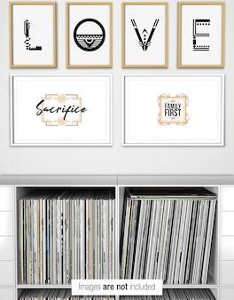 Zes frame collage muur