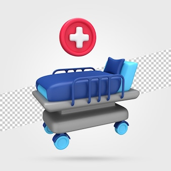 Ziekenhuisbed 3d render