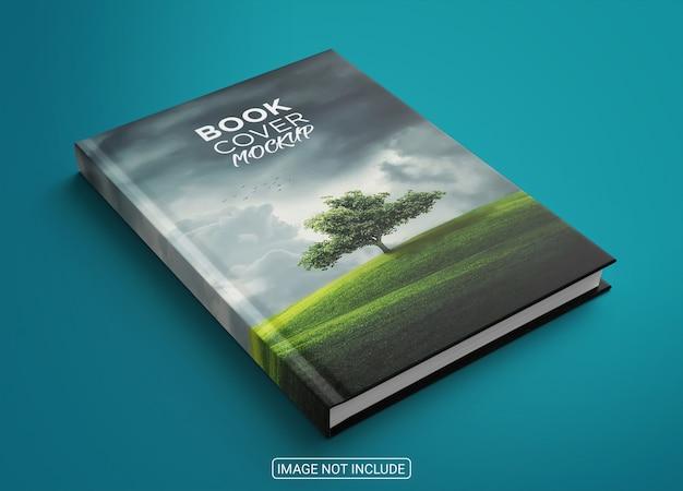 Zijaanzicht minimalistisch boekomslagmodel