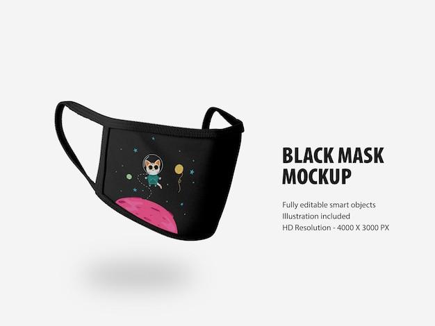 Zijaanzicht van mockup voor gezichtsmasker