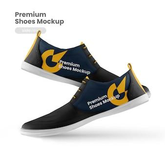 Zijaanzicht van premium schoenenmodel