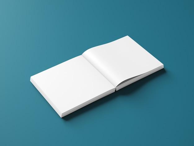 Zijaanzicht vierkante boekomslag mockup