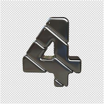 Zilver nummer 3d-rendering geïsoleerd