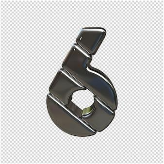 Zilver nummer 3d-rendering geïsoleerd Premium Psd