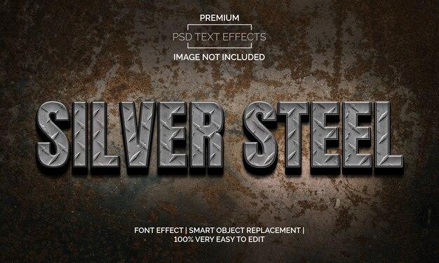 Zilver staal tekst effecten stijl