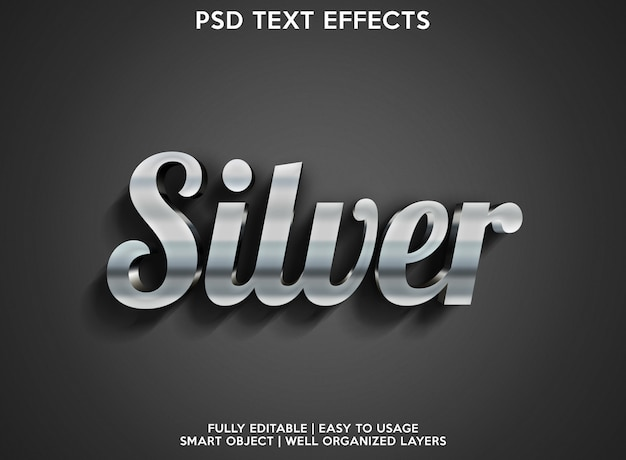 Zilver teksteffect