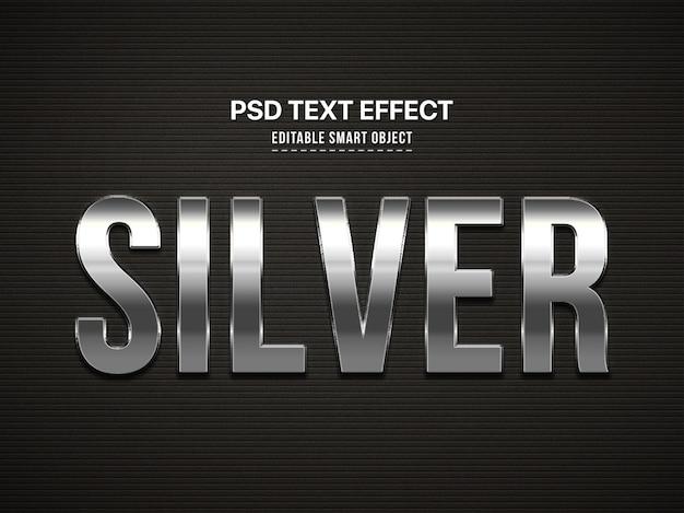 Zilveren 3d tekststijleffect