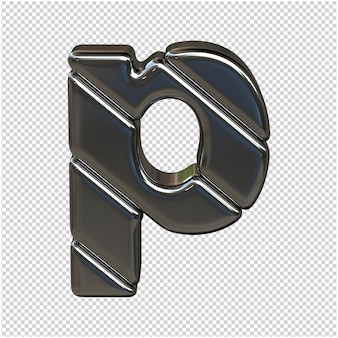 Zilveren letter 3d-rendering
